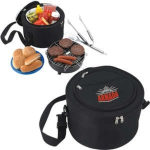 Kozzie Portable BBQ Grill In Cooler Travel Bag NWT